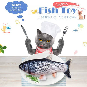 Electric Moving Cat Fish Toy