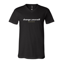 Load image into Gallery viewer, Change Yourself V-Neck Tee