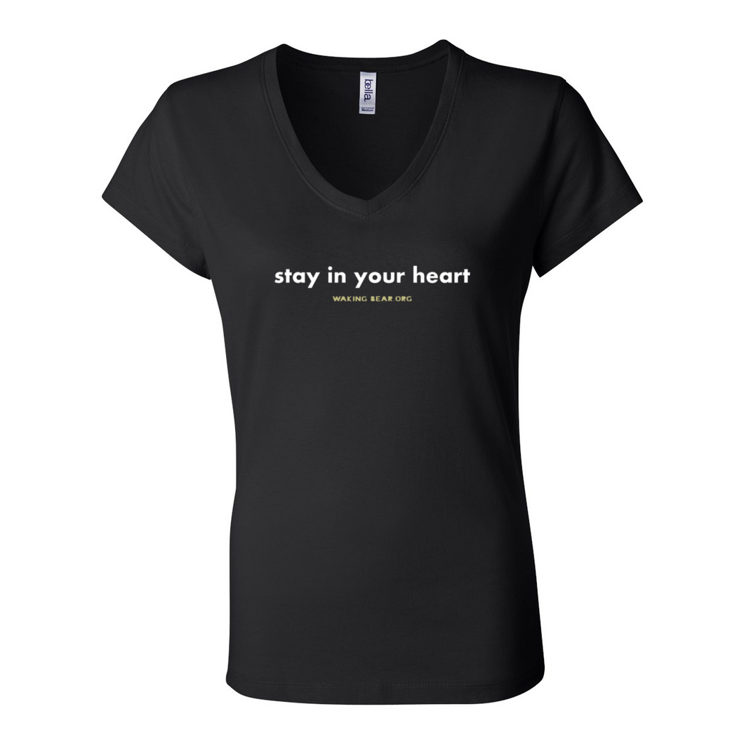 Women's Stay in Your Heart V-Neck Tee