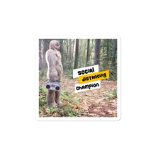 Load image into Gallery viewer, Social Distancing Champion Bigfoot Stickers