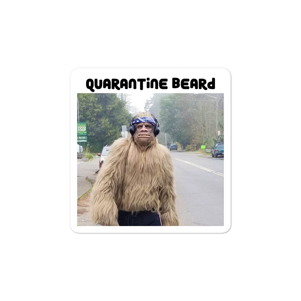 Quarantine Beard Bigfoot stickers