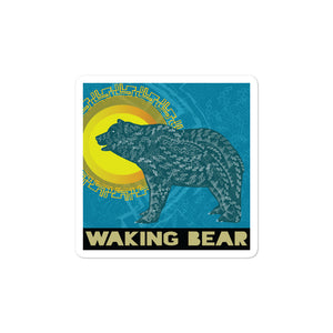 Waking Bear Logo Stickers
