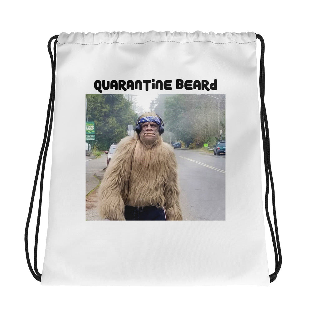 Quarantine Beard Bigfoot Drawstring Gym Bag