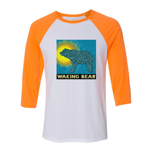 Unisex Waking Bear Baseball Tee