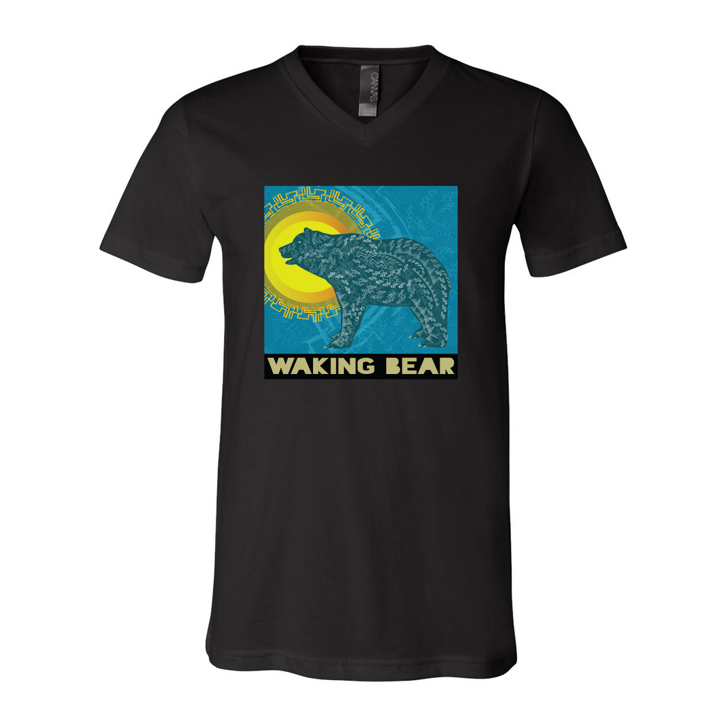 Waking Bear V-Neck Tee