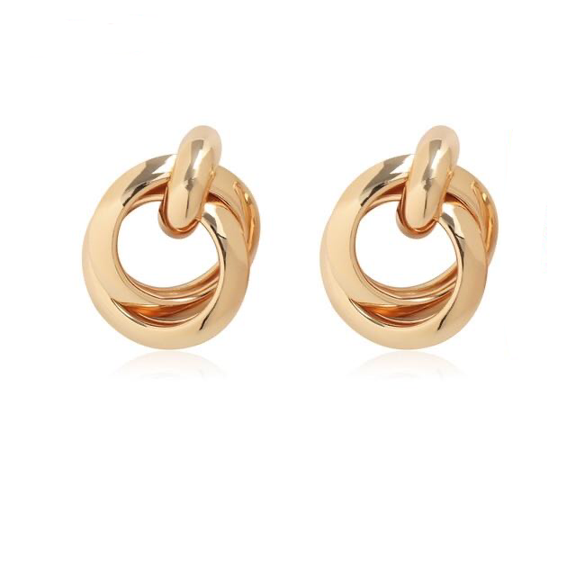 Classic Gold Color Geometric Earrings