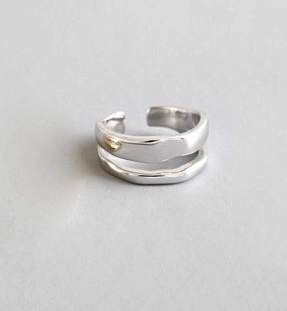 Sterling Silver Two Circle Ring