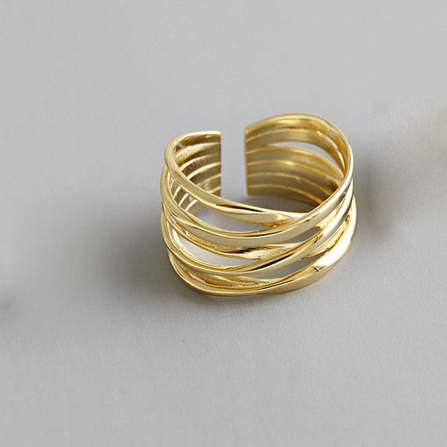 Creative Multilayer Line Ring