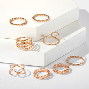 Tocona 8pcs Rings Set