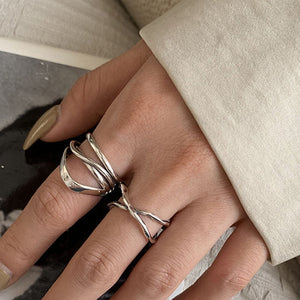Vintage Cross Winding Ring