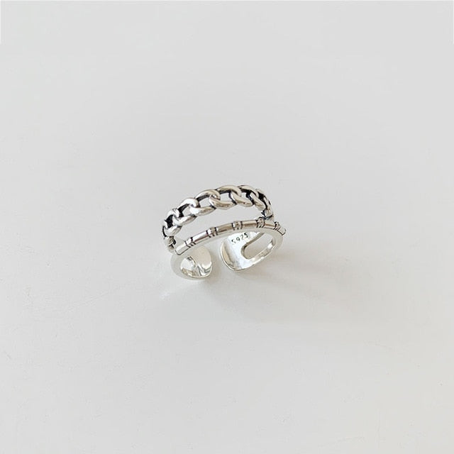 Simple Love Chain Ring