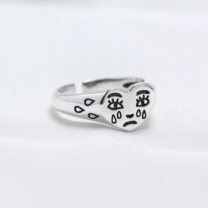 Cry Face Ring