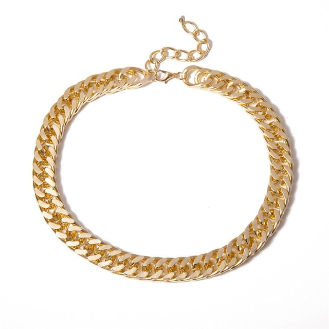 Cuban Thick Chain Choker Necklace