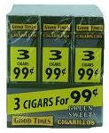 GOOD TIMES GREEN SWEET 3/99¢ (90 CIGARS) BX