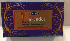 SATYA INCENSE LAVENDER 15GRMS 12 CT