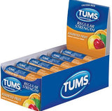 TUMS EXTRA STRENGHT 750 ASSORTED FRUITS 12CT