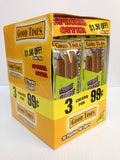 $1.50 OFF WHITE GRAPE 3/99¢ (90 Cigars) 30 POUCHES