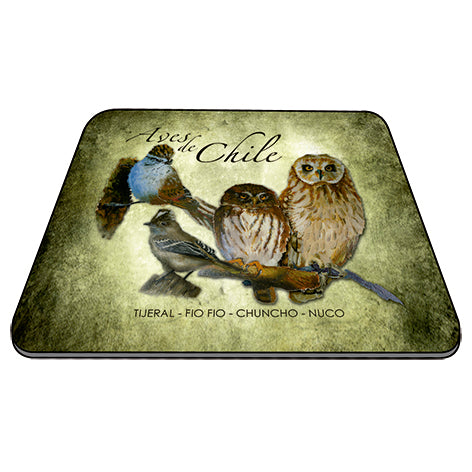 Mousepad aves de Chile