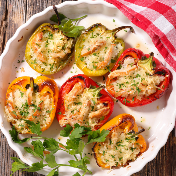 Stuffed Bell Peppers (Vegan) in Gravy - 2 servings