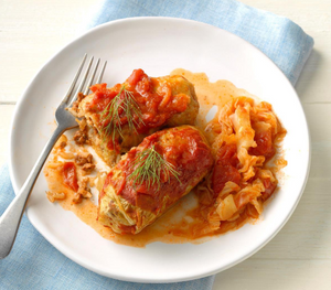 Cabbage Rolls (Beef) in Gravy - 2 servings