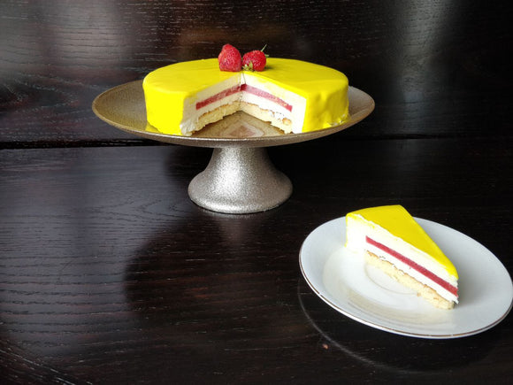 Strawberry Lemonade Mousse Cake