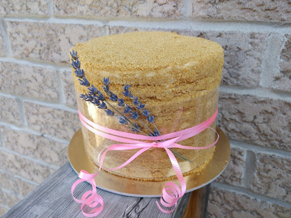 'Lavender' Honey Cake (Medovik)
