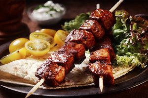 Marinated Shashlik Kebab (Pork and Lemon) - 1 Lb