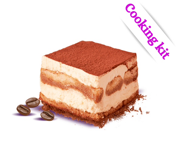 Tiramisu Cooking Kit and Recipe (6-8 portions)
