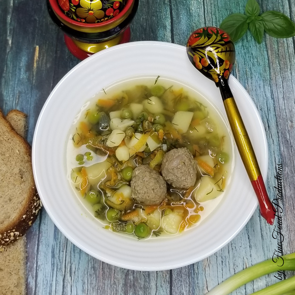 Mini Meatballs Soup with Vegetables - 32 oz