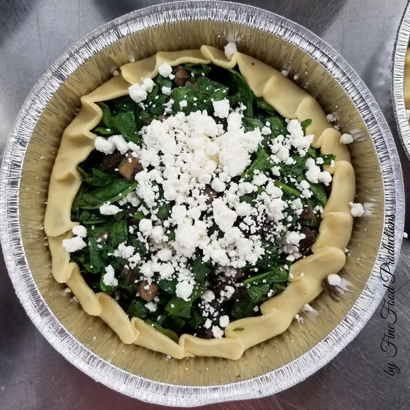 Galette with Spinach, Portabello and Feta Cheese - 8''