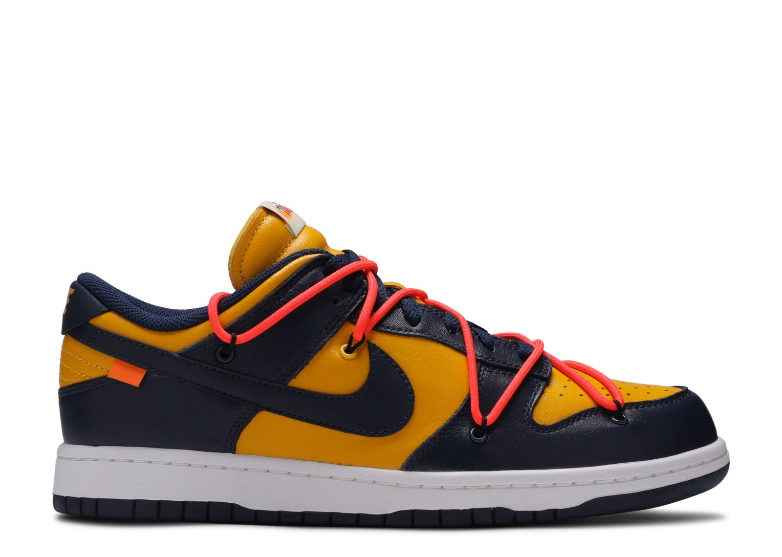 Nike Dunk Low Off-White University Gold Midnight Navy - CookiesandKicksLA