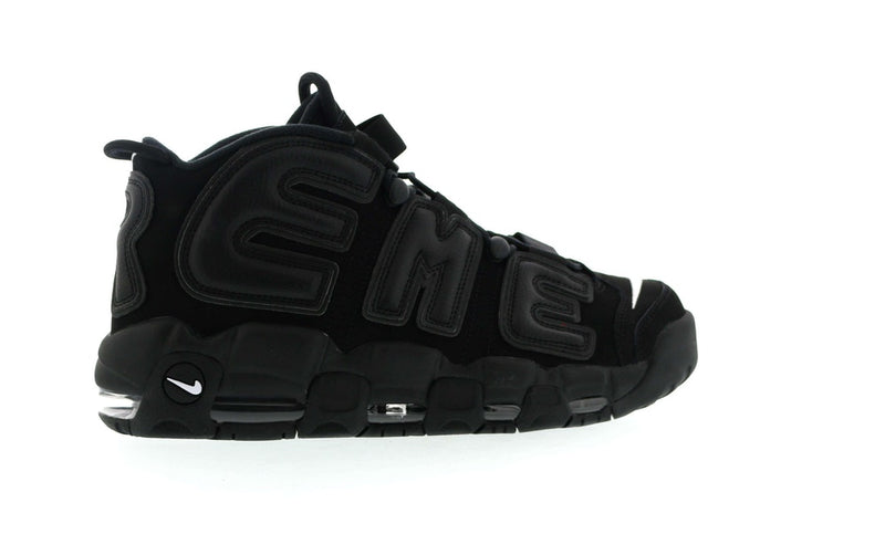 "Nike Air More Uptempo Supreme ""Suptempo"" Black - CookiesandKicksLA"