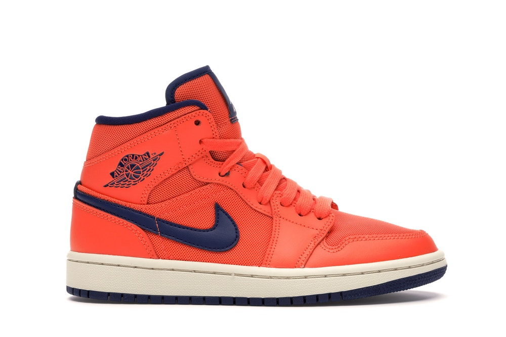 Jordan 1 Mid Turf Orange Blue Void - CookiesandKicksLA