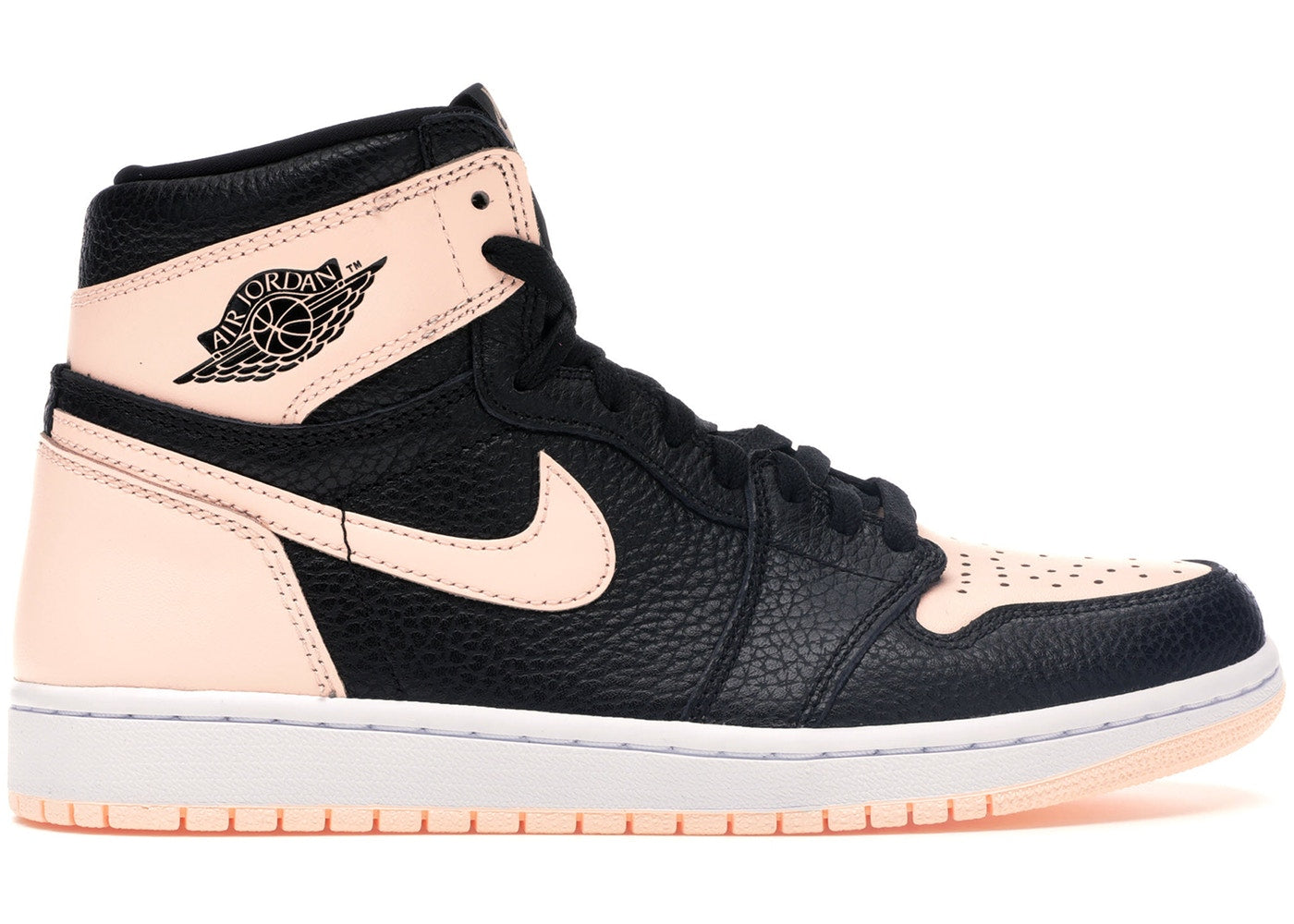 Jordan 1 Retro High Black Crimson Tint - CookiesandKicksLA
