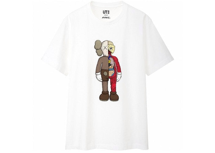 KAWS x Uniqlo Flayed Tee White - CookiesandKicksLA
