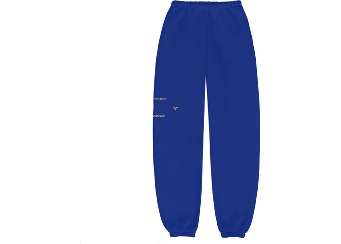 Kanye West Jesus Is King Vinyl I Sweatpants Blue
