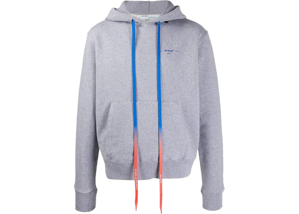 OFF-WHITE Acrylic Arrows Hoodie Grey/Blue