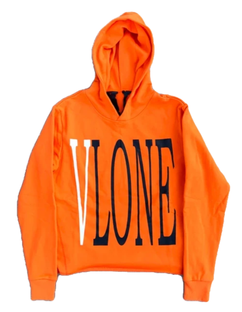 Vlone Orange Staple Hoodie - CookiesandKicksLA