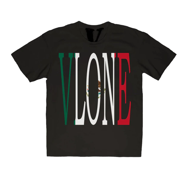 Vlone Mexico Staple Tee Black - CookiesandKicksLA