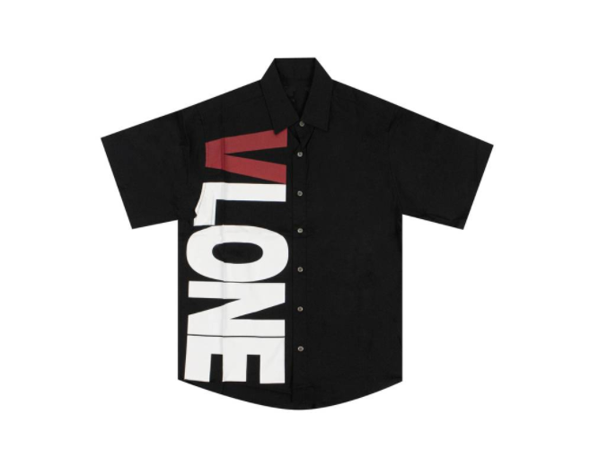 Vlone Black Button-Up