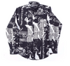 Revenge Black Graffiti Button Down Shirt - CookiesandKicksLA