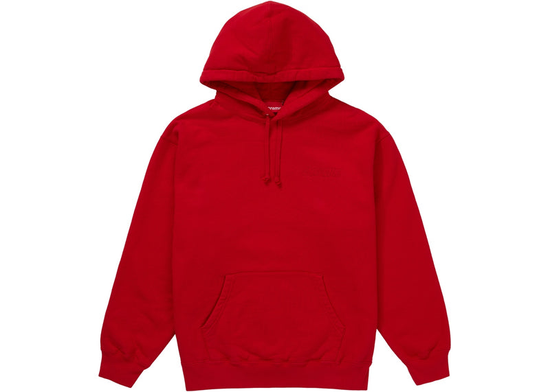 Supreme Smurfs Hooded Sweatshirt Red