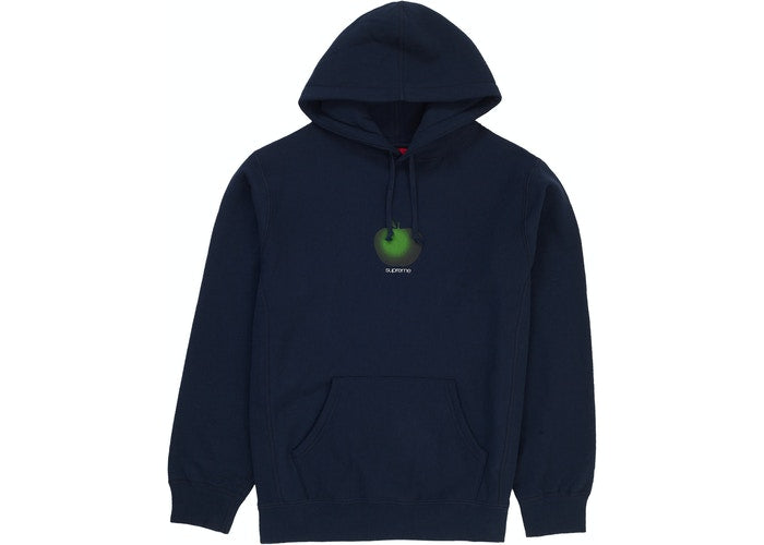 Supreme Apple Hooded Sweatshirt Navy - CookiesandKicksLA