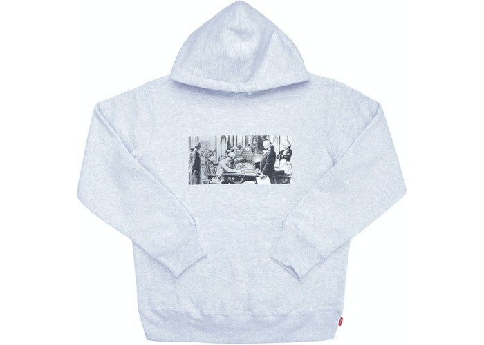 Supreme Mike Kelley Treaty Signing Hoodie Ash Grey - CookiesandKicksLA