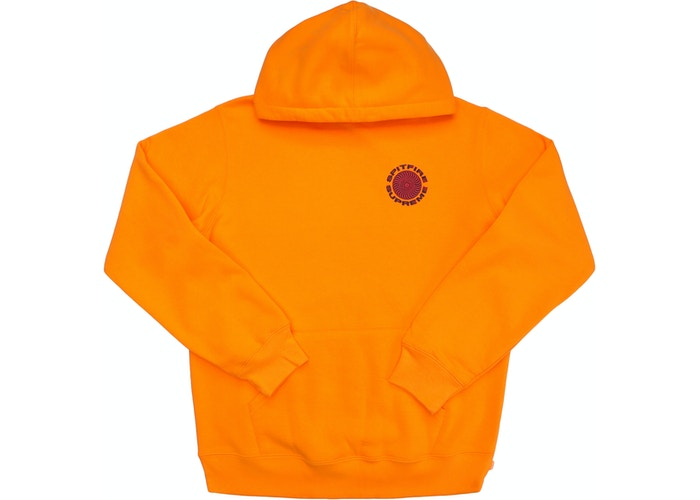 Supreme Spitfire Hooded Sweatshirt Orange - CookiesandKicksLA