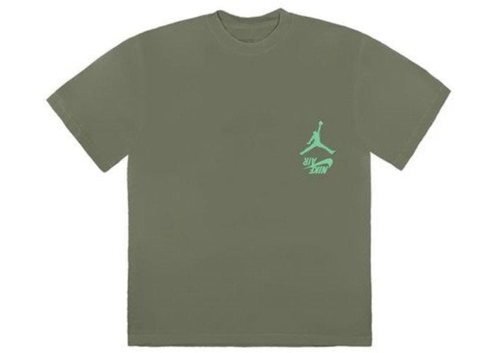 Travis Scott Jordan Cactus Jack Highest T Shirt Olive - CookiesandKicksLA