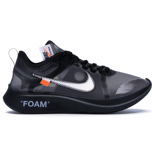 Nike Zoom Fly Off-White Black Silver - CookiesandKicksLA