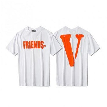 Vlone Friends Tee Orange/White