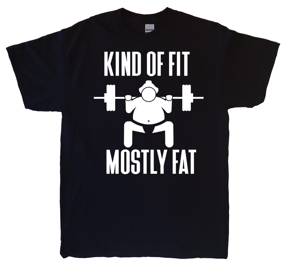 Kind Of Fit Mostly Fat Black T-Shirt