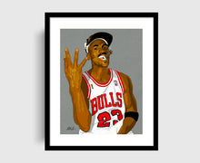 Load image into Gallery viewer, MJ 4 Rings Art Print